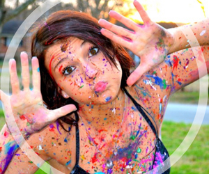 girl, paint, and bikini image