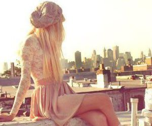 blond, hair, and dress image