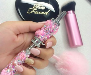 nails, pink, and shisha image