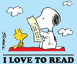 snoopy, books, and reading image