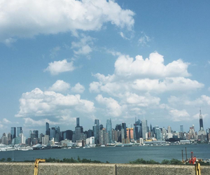 city, new york, and water image