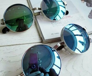 blue, classic, and sunglasses image