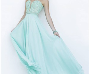 beauty, party dress, and long prom dress image