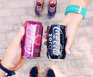 cherry, coca cola, and drink image
