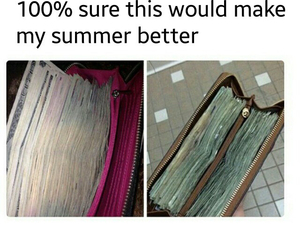 summer, money, and rich image