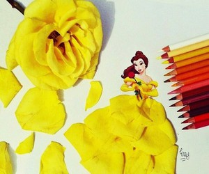 disney, flower, and yellow image