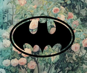 batman, flowers, and tumblr image