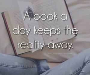 book, reality, and quote image