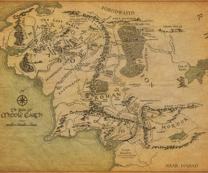 map, middle earth, and lord of the rings image