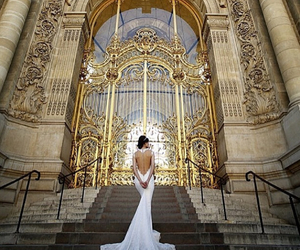 style, beautiful, and bride image