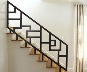 stairs, interior stairs, and stair railing image
