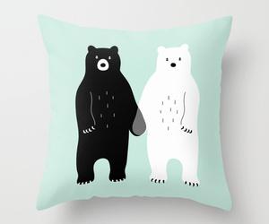 art, bear, and bed image