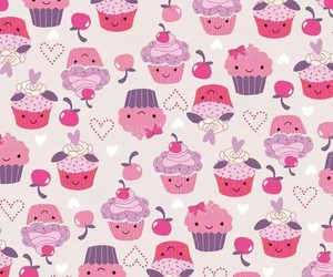 background, cupcake, and wallpaper image