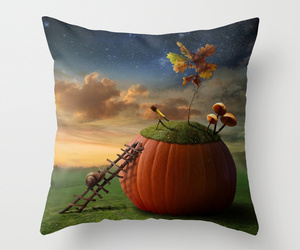 art, throw pillow, and bed image