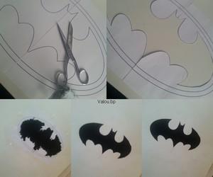 batman, deco, and dessin image