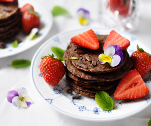 food, healthy, and pancake image