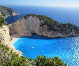 sea, beach, and Greece image