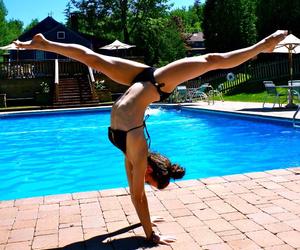 fit, gymnastics, and sun image