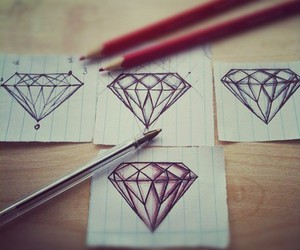 art, drawing, and diamonds image