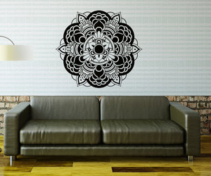 home decor, namaste, and vinyl sticker image