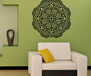 namaste, living room decal, and mandala wall decal image