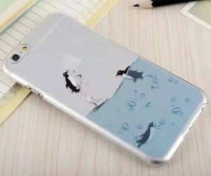 iphone, penguin, and case image