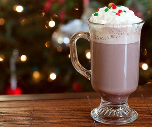 drink, christmas, and food image