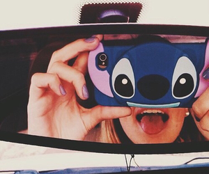 girl, iphone, and stitch image