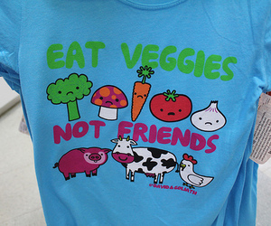 friends, veggies, and animal image