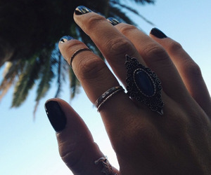 hand, girl, and rings image