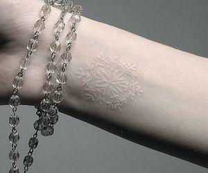 tattoo, white, and snowflake image