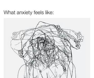 anxiety, true, and quote image
