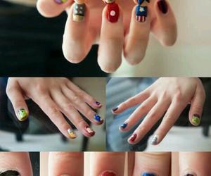 nails, Avengers, and nail art image