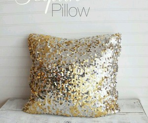 gold and pillow image