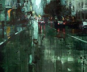 city, art, and car image