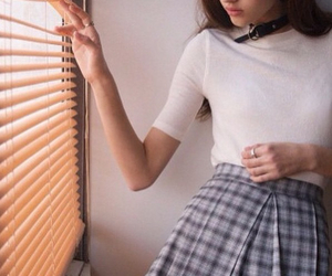 aesthetic, blinds, and girl image