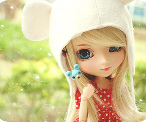 doll, cute, and blonde image