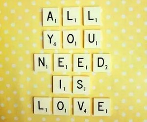 love, quote, and yellow image