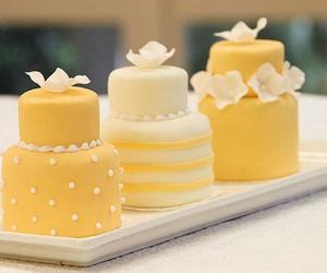 cake, yellow, and sweet image