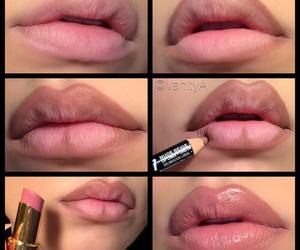 lips, tutorial, and diy image