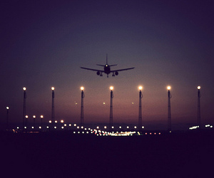 airplane, landing, and arrived image
