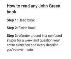 advice, books, and john green image