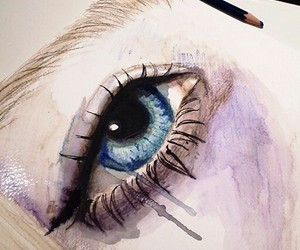 art, eye, and Ilustration image