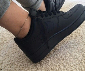 black, sneakers, and clean image