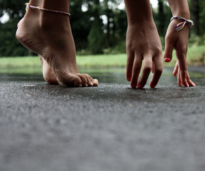 down, feet, and hands image