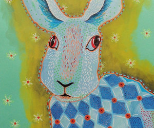 hare painting, hare art print, and paintings of hares image