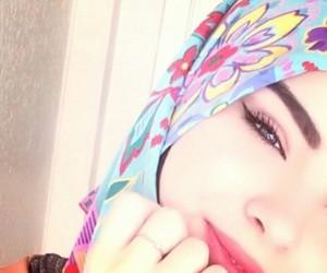 eyes, muslima, and hijab image