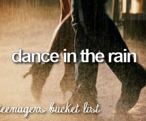 dance, rain, and teenager image