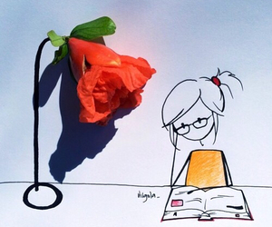 flowers and study image