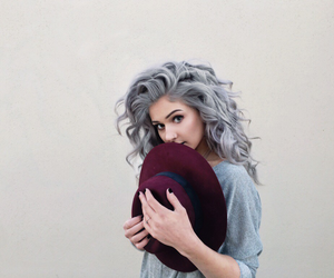 hair, grey, and hat image